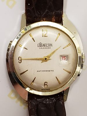 VINTAGE 1960'S LORD NELSON CALENDAR MEN'S WATCH for Sale for sale  New York, NY