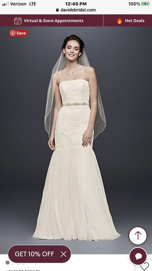 New/Unused Wedding or reception dress never worn, brand new, wedding cancelled for Sale in Fort Lauderdale, FL