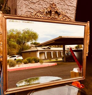 Antique style, vintage large mirror wood framed H25xW34 inch for Sale in Sun Lakes, AZ