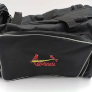 St Louis Cardinals Black Canvas Travel Duffle Bag MLB Insiders Club Life for Sale in Glenview, IL