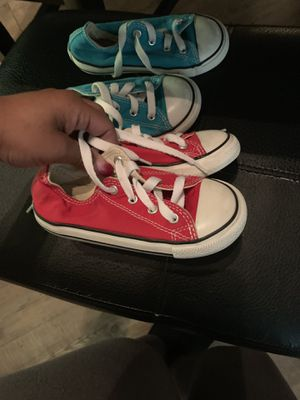 Size 9c Red Converse $10 for Sale in Tampa, FL