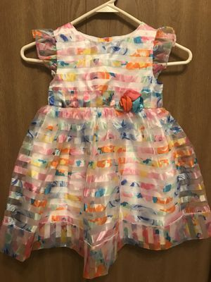 Girl's Dress w/ Striped Flower Overlay for Sale in Hanover Park, IL