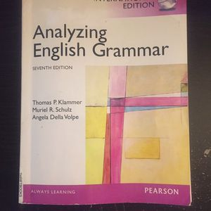 Analyzing English Grammar - Paperback By Thomas P. Klammer (ISE) for Sale in Whittier, CA