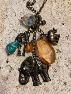 Boho Style Necklace w/elephants, Giraffe-Charms XL Nice Quality& Condition-Miami Warehouse liquidation for Sale in Miami, FL