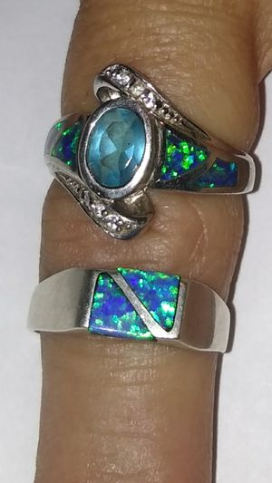 2 silver and turquoise woman's ring $40 for Sale in Phoenix, AZ