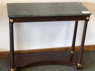 Elegant Console Table With Green Faux Marble Top for Sale in Puyallup,  WA