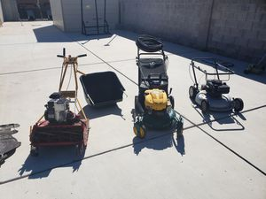 Multiple lawn mowers and garden equipment for Sale in Las Vegas, NV