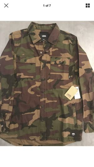 Vans Camo Oversized Woodland Shirt Jacket S M L XL for Sale in Glenview, IL