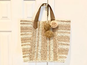 Straw Studios Extra Large Tote Bag Absolutely Gorgeous New w/o tags for Sale in Alpharetta, GA