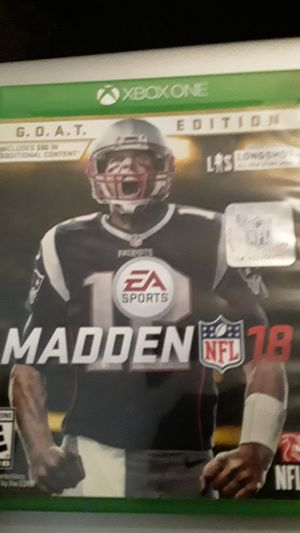 NFL Madden 18 Xbox One for Sale in Saint Paul, MN