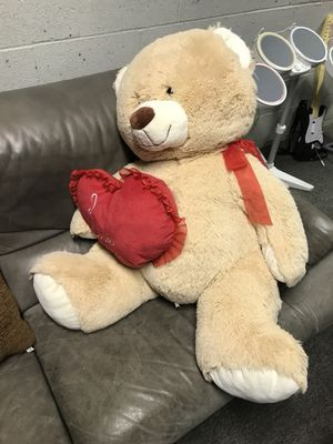 Huge soft teddy bear with heart - Valentine's Day for Sale in Marlboro Township, NJ