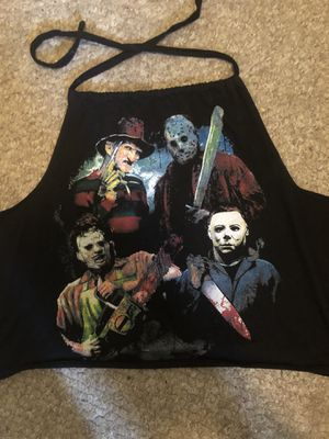Horror movie characters laced tank top for Sale in Middleburg, FL