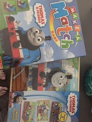 Thomas and friends wooden wood puzzles and game for Sale in Sanctuary, TX