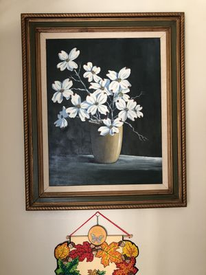 Dogwood picture in frame for Sale in Concord, CA