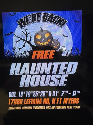 2nd annual haunted house for Sale in NO FORT MYERS, FL