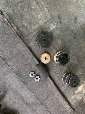 Weights and bar 100+ lbs for Sale in Greenville, SC