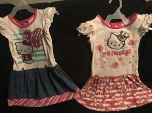 ** SET OF 2 ** GIRLS SIZE 3T HELLO KITTY SHORT-SLEEVE SUMMER SUNDRESS'S for Sale in Colorado Springs, CO