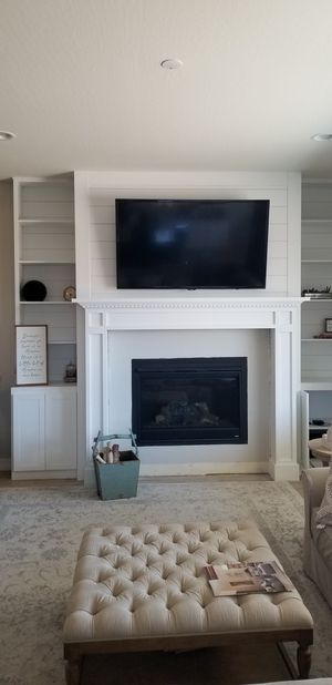 Fireplace mantle with bookshelves for Sale in Phoenix, AZ