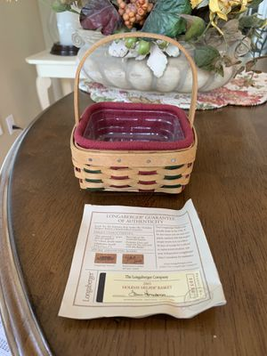 Longaberger small collectors basket for Sale in Oxford, CT