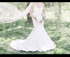 Justin Alexander Lace wedding dress gown for Sale in Charlotte, NC