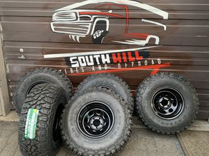 Sale!!! 15X10 5-114.3 Jeep Wheels with 33/12.50R15 MT Tires ready for off-roading and Hunting @ SouthHill Tire for Sale in Puyallup, WA