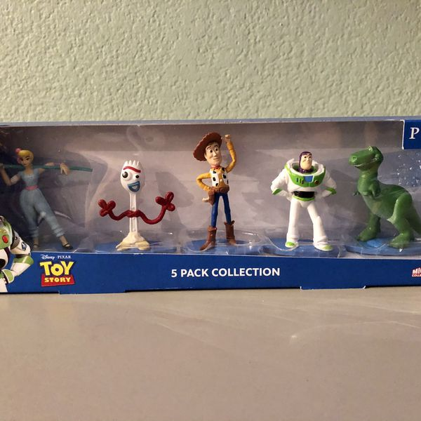 NEW Disney Toy Story 5 pack micro figures * Buzz * Woody * Forky * Rex * Bo Peep