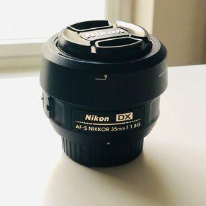 Nikon AF-S Nikkor 35mm f/1.8 DX Lens for Sale in Mercer Island, WA