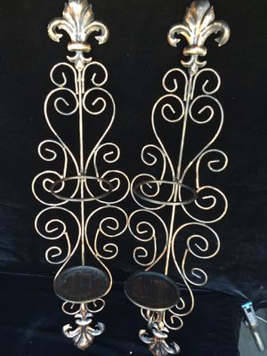 Metal, Wall mountable candle holder, H29 x W7.5 inch for Sale in Chandler, AZ