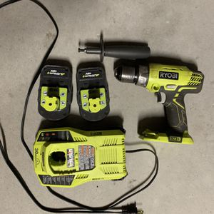 Riyobi Hammer Drill With Charger / 2 Batteries for Sale in Escondido, CA