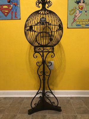 4ft Black metal decorative antique birdcage. for Sale in Lakeland, FL