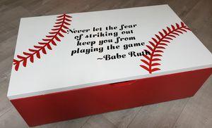 Custom Baseball Toy Box for Sale in West Linn, OR