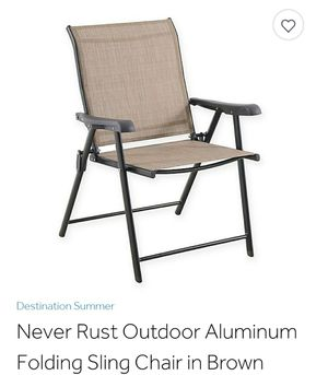 Destination Summer Never rust Aluminum folding chairs for Sale in Charlotte, NC