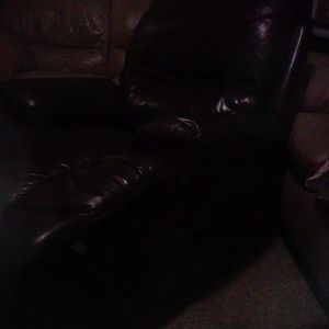 Brown Leather Recliner Sofa for Sale in Huntington Park, CA