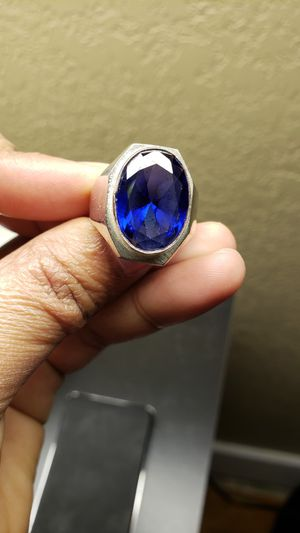 Men handmade ring in silver. for Sale in Oliver, WI