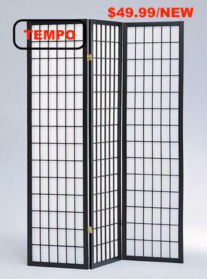 3-Panel Room Divider, Black for Sale in Huntington Beach, CA