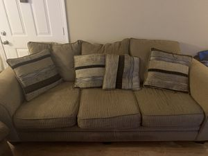 Couch with pillows and ottoman for Sale in Nashville, TN
