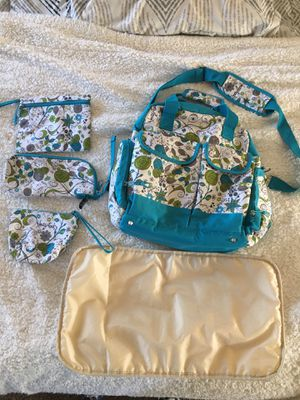 Large 5 piece diaper bag for Sale in Grants Pass, OR