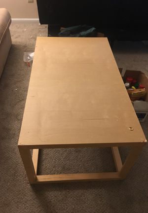 Coffee table & two small stools for Sale in Raleigh, NC