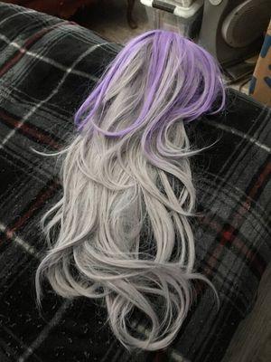 Nice purple and grey Halloween 🎃 wig 👻 for Sale in San Bernardino, CA
