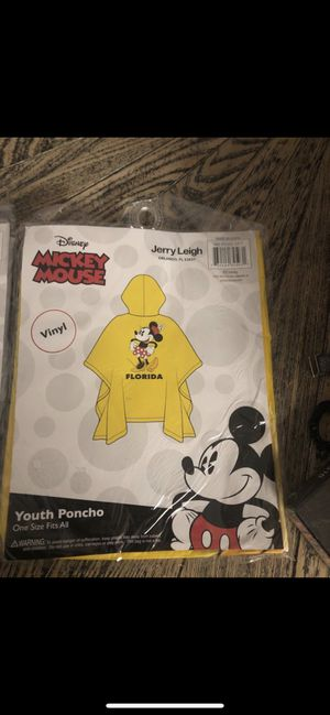Youth Disney ponchos for Sale in Anaheim, CA
