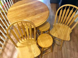 Wooden Table with Barstools for Sale in Philadelphia, PA