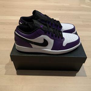 Air Jordan 1 Low Court Purple Size 12 for Sale in Atlanta, GA