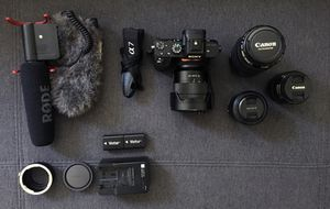 Sony a7ii with lenses and accessories for Sale in Los Angeles, CA