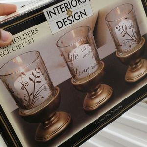 Interior By Design 3 Piece Candle Holder Gift Set for Sale in Wake Forest, NC