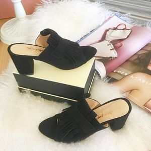 Size7&Size14Chic Mule Fringed Summer Sandals for Sale in Las Vegas, NV