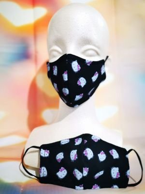 Kids Face mask, Facemask (hello kitty Black): Hand made mask, reversible, reusable, washer and dryer safe. for Sale in Long Beach, CA