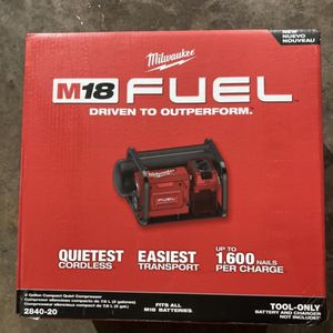Milwaukee M18 Fuel 2gallon Quiet Air Compressor . Tool Only. for Sale in Philadelphia, PA
