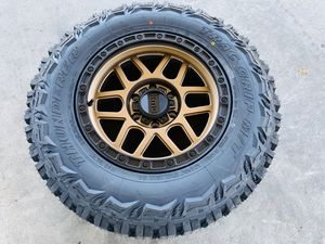"""17"""" Brand new Xd off road bronze rims and mud tires 2657017. For 6 lug Toyota Chevy gmc for Sale in Modesto, CA"""