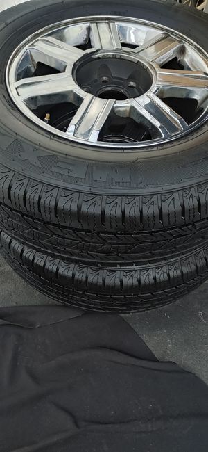 New tires 265 /70/18. Rims for chevy gmc cadillac for Sale in Santa Ana, CA