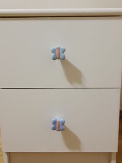 Nightstand ~ Side Table ~ Toy Box ~ 2 Drawer White for Sale in Everett,  WA